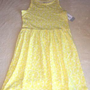 NWT Girls Lemon Sundress
